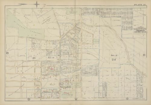 1884 CINCINNATI HAMILTON COUNTY OHIO MOUNT ST VINCENT OAK AV-GRAND AV ATLAS MAP