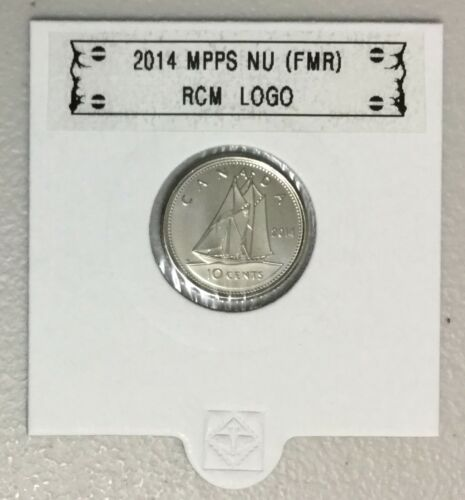 BU directly from mint roll CANADA 2014 New 10 cents