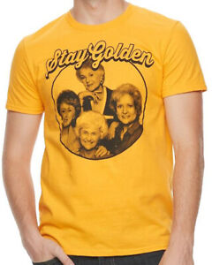 Golden-Girls-Stay-Golden-Yellow-Men-039-s-Graphic-T-Shirt-New