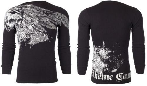 Xtreme couture Affliction Homme Thermique T-shirt désuet Tatouage Motard M-3XL $58