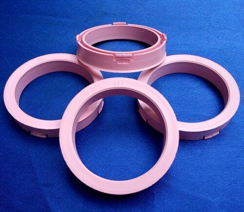 S49 60,1 mm rosa für Alufelgen 4x Zentrierringe 73,1