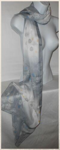 Scarves,Scarf,Long,Floral,Red,Grey,Blue...Silky Chiffon Floral Scarf FL.B