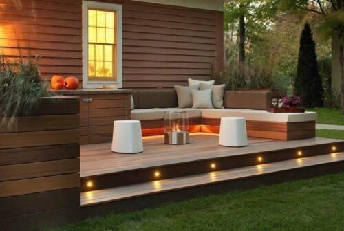 20 x WIFI Kontroller RGBW Warmweiβ LED Bodeneinbauleuchten Außen Terrasse Spot