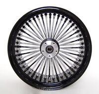 18 X8.5 Wide Black Custom Rear Wheel Mammoth 48 Fat Spokes Fit Harley 250 Tire