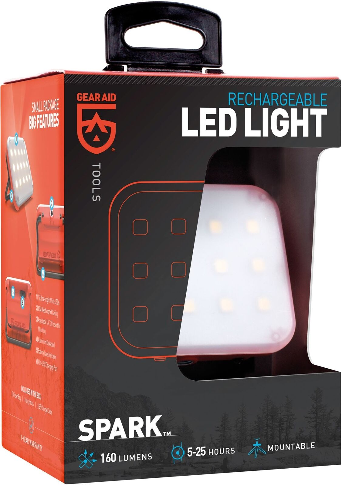 McNett Gear Aid SPARK   Rechargeable LED Light    Leeda