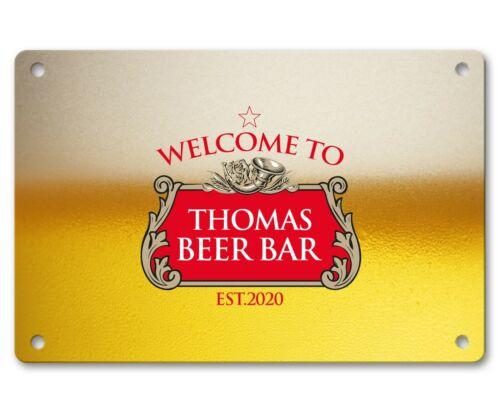 Personalised Bar Sign Any Name Garden Plaque Gift Bar Pub Backyard Bar Sign 07