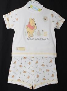 Baby Boy/'s WINNIE THE POOH Pyjamas 100/% Cotton PJs NWT Sizes from 6-24 Months