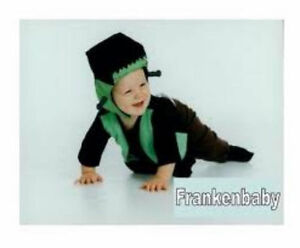 Image is loading BABY-FRANKENSTEIN-Infant-Halloween-Costume-Size-0-6-  sc 1 st  eBay & BABY FRANKENSTEIN Infant Halloween Costume - Size 0-6 Mo - 100 ...