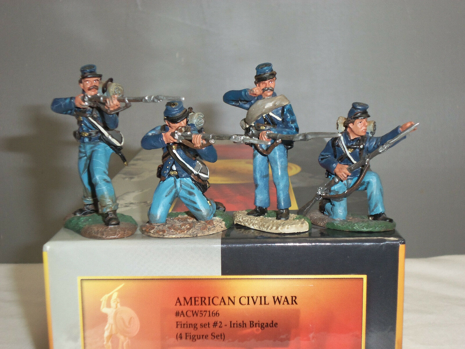 CONTE ACW57166 IRISH BRIGADE FIRING AMERICAN CIVIL WAR TOY SOLDIER FIGURE SET 2