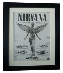 NIRVANA-IN-UTERO-TOUR-POSTER-AD-COBAIN-FRAMED-ORIGINAL-1994-EXPRESS-GLOBAL-SHIP