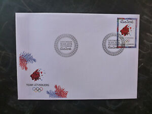 2016-LUXEMBOURG-RIO-OLYMPIC-GAMES-STAMP-FDC-FIRST-DAY-COVER