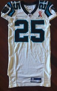 Details about Carolina Panthers 9/11 GAME WORN JERSEY #25 Reebok 2001 NFL Football GAME USED