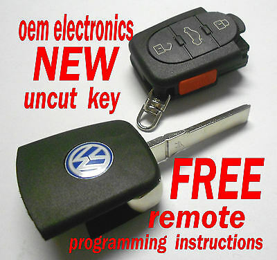 NEW VW VOLKSWAGEN KEYLESS REMOTE ENTRY TRANSMITTER UNCUT KEY FOB HLO1J0959753F