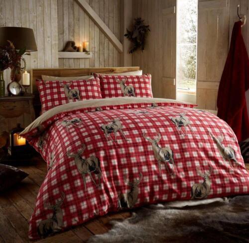 Flannelette Duvet Cover Set King Size Double Single Christmas Bedding PillowCase