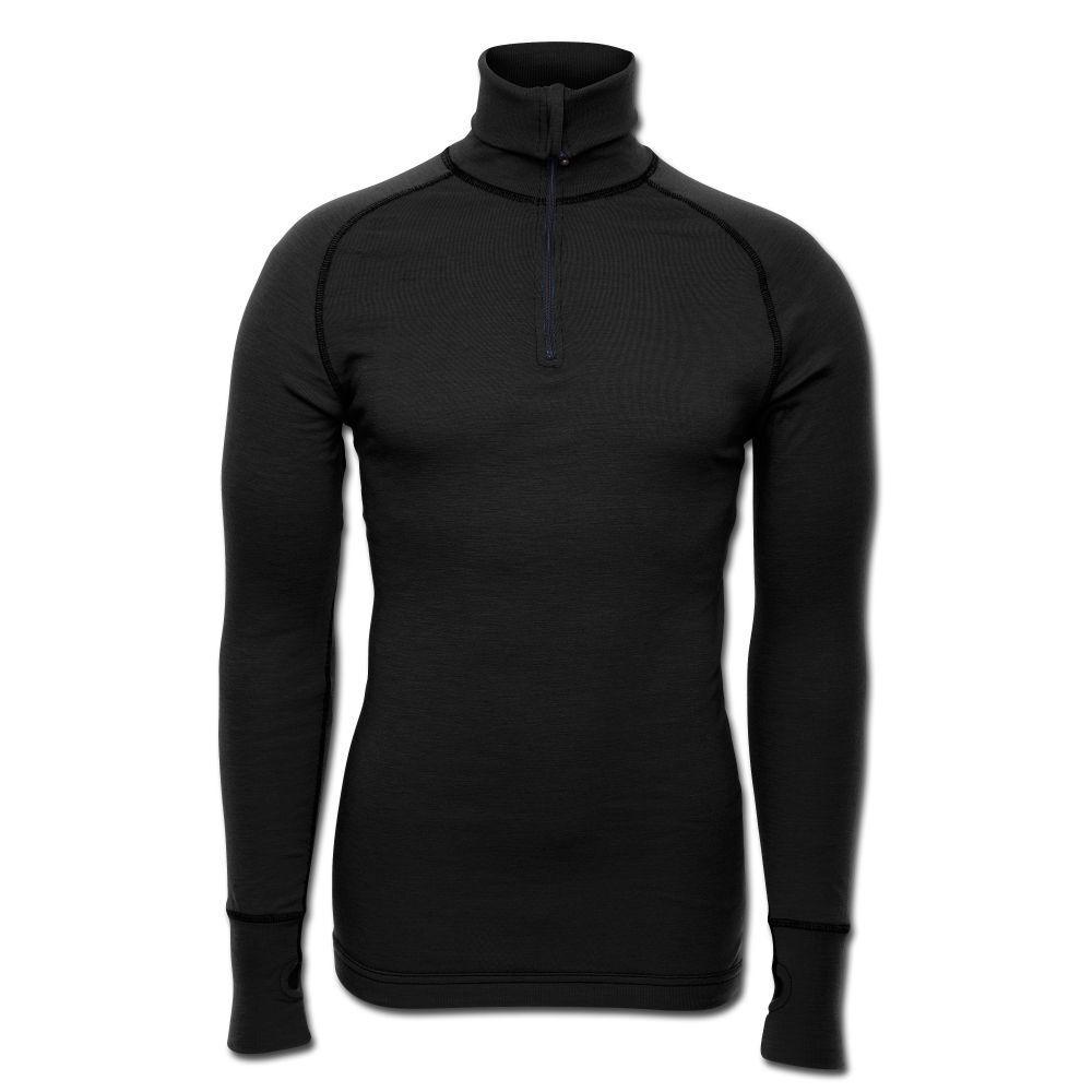 Brynje Zip-Poloshirt Shirt Arctic Unterwäsche Unterhemd wärmeisolierend schwarz