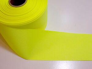 Large-ruban-jaune-Offray-Fluo-Gros-Grain-Ruban-3-in-environ-7-62-cm-de-Large-x-3-metres-Cheer