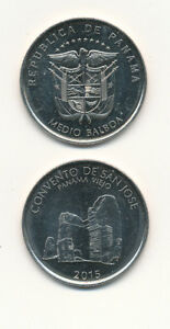PANAMA-Medio-Balboa-50-Centesimos-2015-UNC-Commemoration-issue