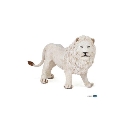 LEONE Bianco Figura Papo Regno Animale Selvatico-modello 50074