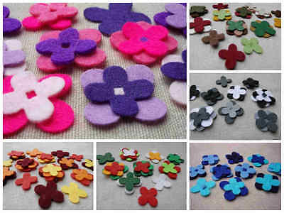 FELT x16 Layering FLOWERS Die Cuts Christmas Appliques DIY Brooches VARIOUS