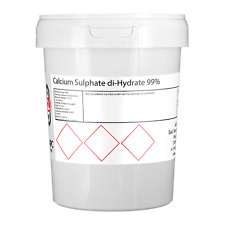 Solfato di calcio diidrato 99% (GESSO) - 1kg * Home DELLA BIRRA *