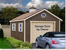 New Sierra 12'x16' Ezup Best Barns Wood Outdoor Garage Barn Kit