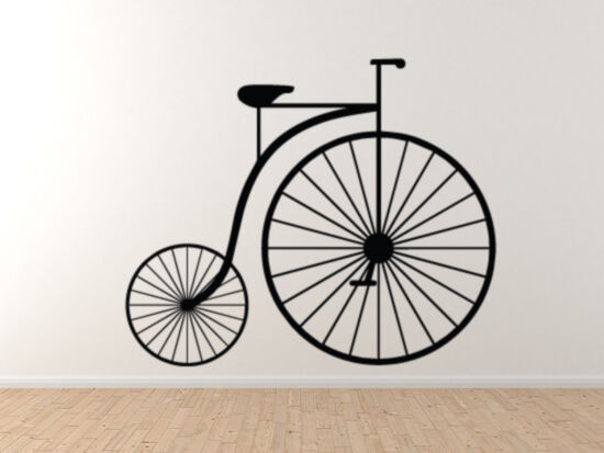 Retro Hipster - Old Style Bicycle Penny FKunsthing - Fahrrad - Vinyl Wand Decal