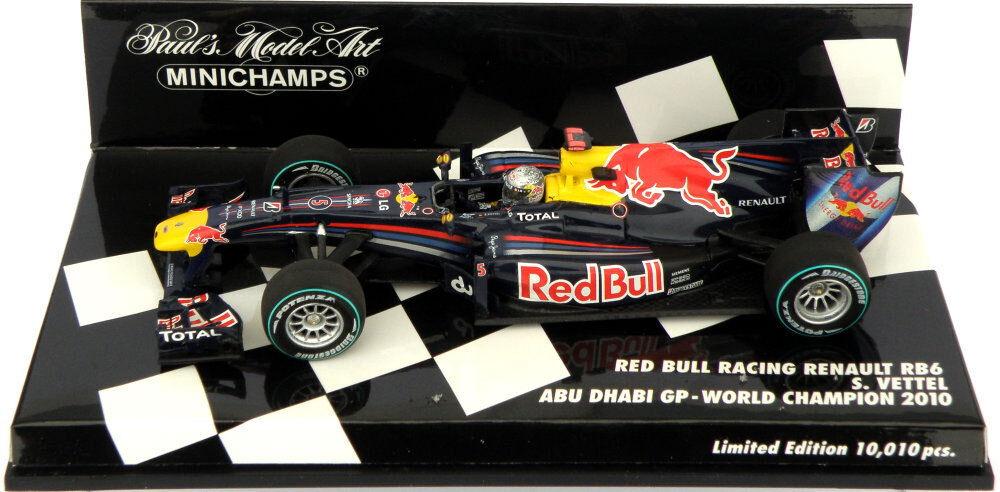 Minichamps Red Bull RB6 Abu Dhabi GP 2010 S Vettel F1 World Champion - 1 43
