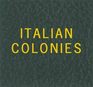 Scott-Series-LABEL-For-Green-Binder-ITALIAN-COLONIES-Gold-Lettering-Stamp-Album