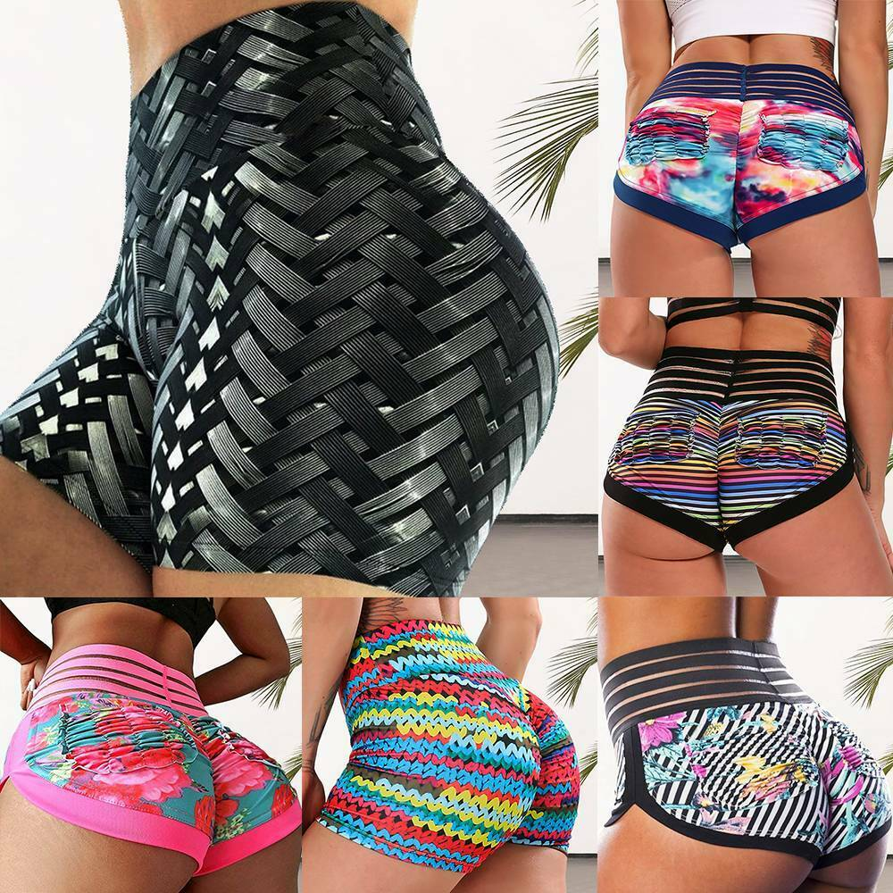 Womens Shorts Summer Beach Hot Pants Gym Yoga Sports Stretch Hotpant Trousers AS