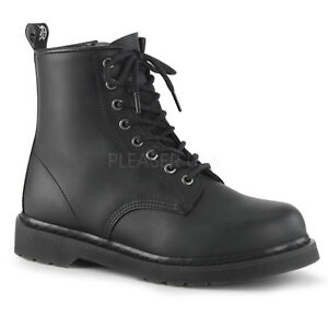 BOLT-100-COMBAT-GOTH-ARMY-PUNK-CLASSIC-CASUAL-LACE-UP-ANKLE-HIGH-BOOT-unisex