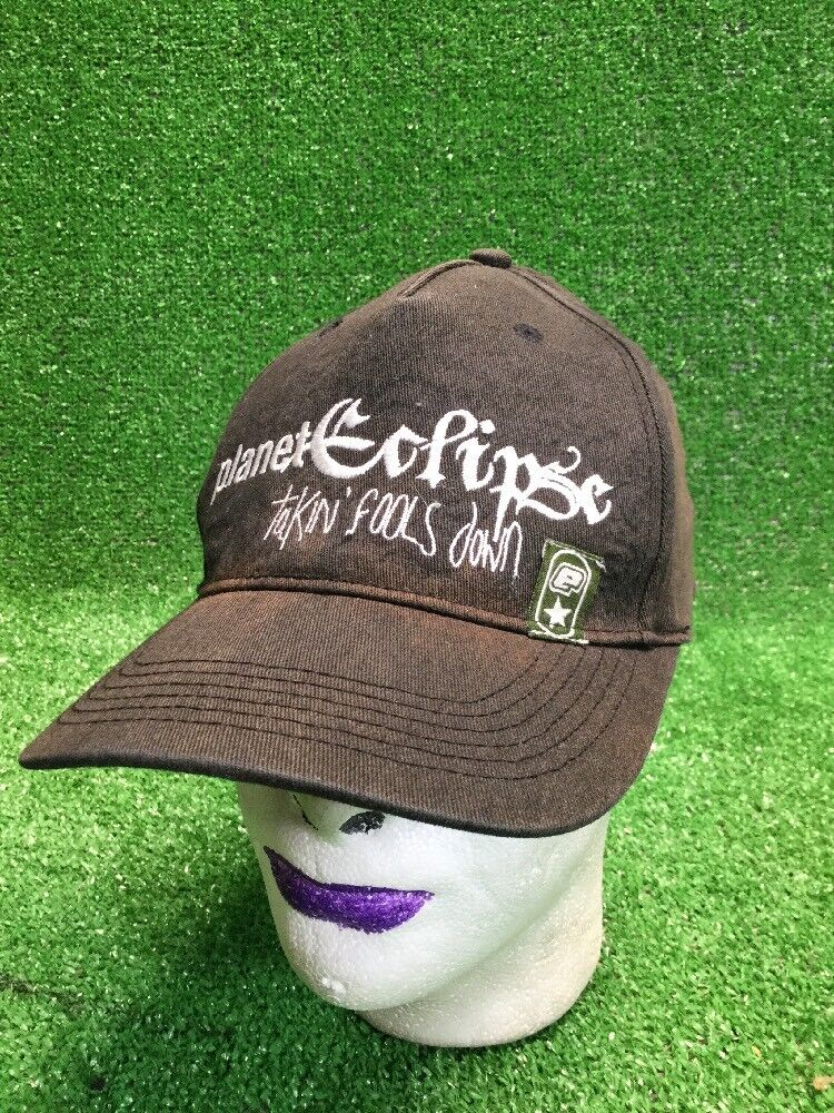 Black Distressed Laney Fools Eclipse Hat Cap Takin Fools Laney Down Fitted Elastic Bleach 460539
