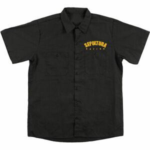 Sepultura-Men-039-s-Nation-Work-Shirt-X-Large-Black