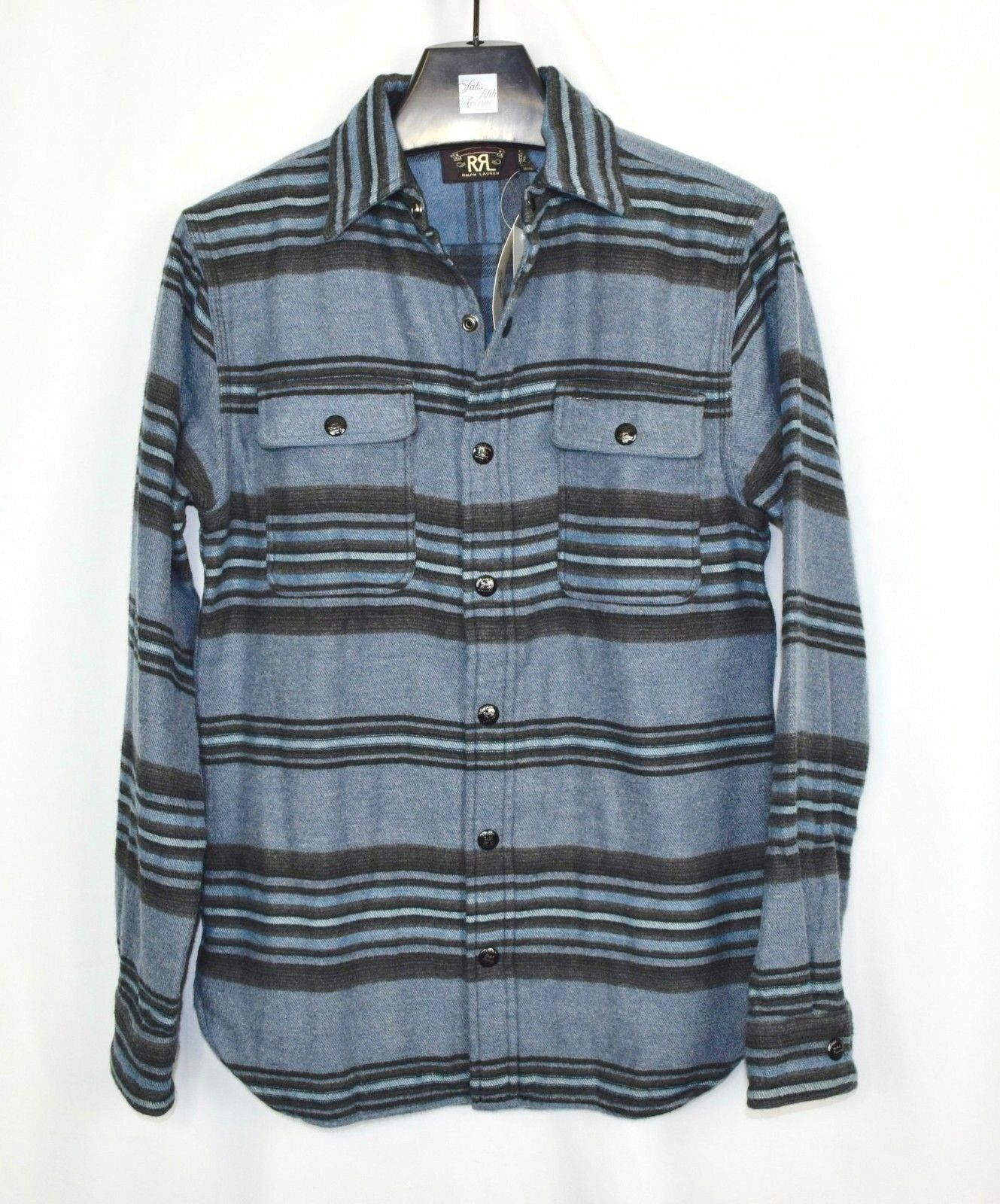 RRL Ralph Lauren Blanket Striped Southwest Cotton Wool Work Shirt Men's M