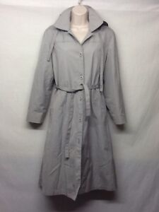 Fog Maincoats Størrelse Bæltet Stu1 Coat Vintage Trench London Grå 10p ABxwgv