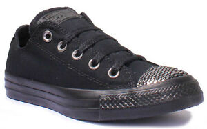 Plimsolls Womens Tamaño Uk Star Mono 8 All Low Converse Black Metalic Top Toe 3 SzEw4qwTa