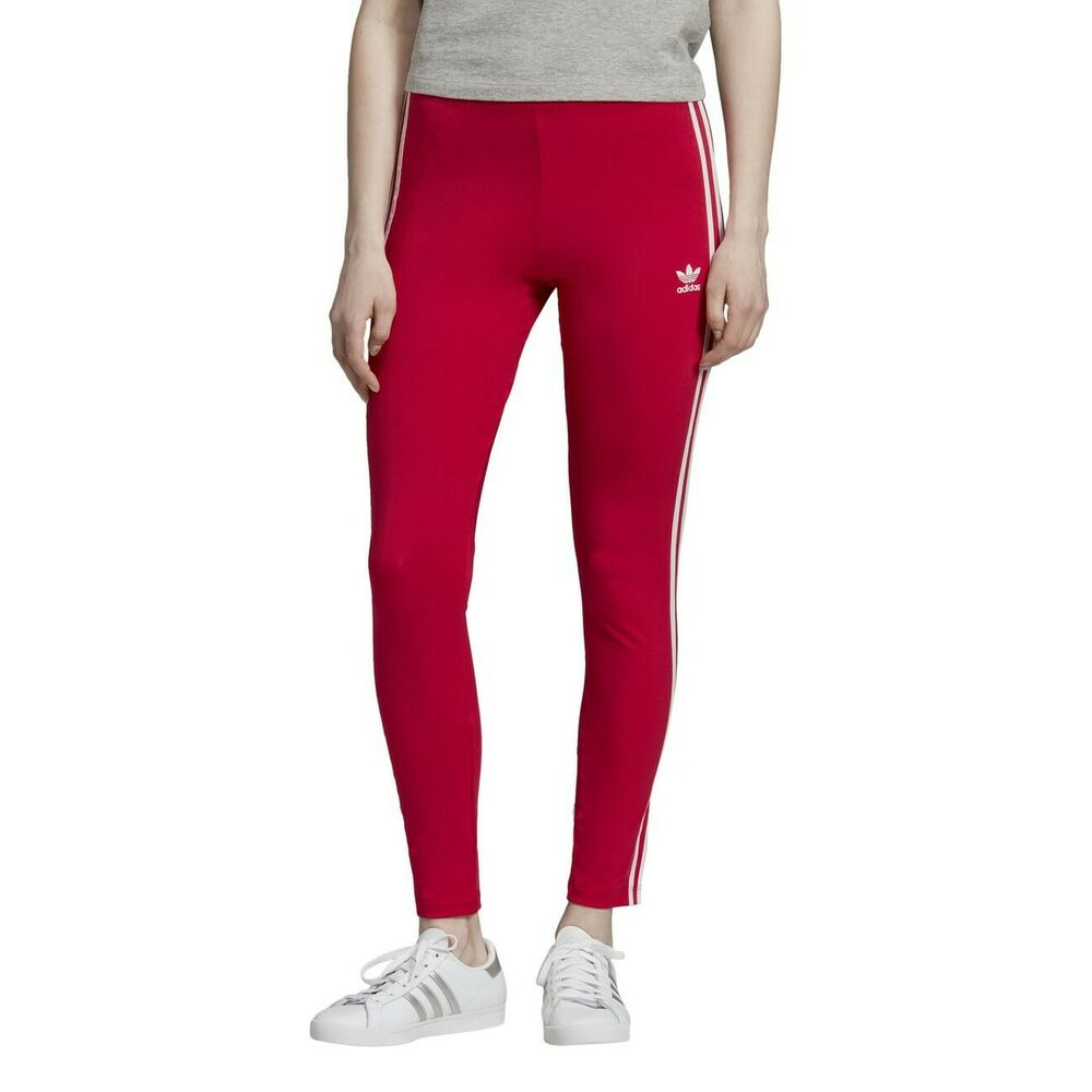 Adidas Femme 3-rayures Collants, Taille 14, Rose, Neuf Avec étiquettes