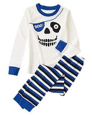 NWT Gymboree Spooky Pirate Skull Skeleton Gymmies Sleep Set PJ NEW Boys 7 10