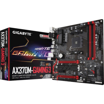 Gigabyte GA-AX370M-Gaming 3 mATX Mainboard Sockel AM4 GL/USB3.1/M.2/HDMI/DVI/VGA