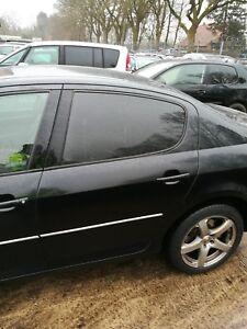 Peugeot-407-Limosine-Tuer-hinten-links-Exl-Obsidien-schwarz