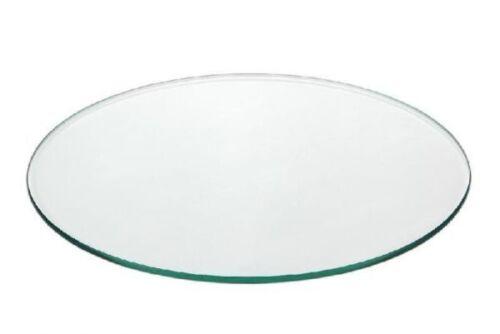 Espace assiettes en verre clair verre poli et ébavurés 6 place assiette Set