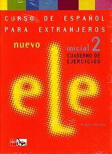 NUEVO INICIAL 2 CUADERNO DE EJERCICIOS Curso de Espanol Para Extranjeros +CD NEW