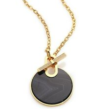796NWT $185 MICHAEL KORS CITYSCAPE BLACK AGATE TOGGLE FRONT NECKLACE