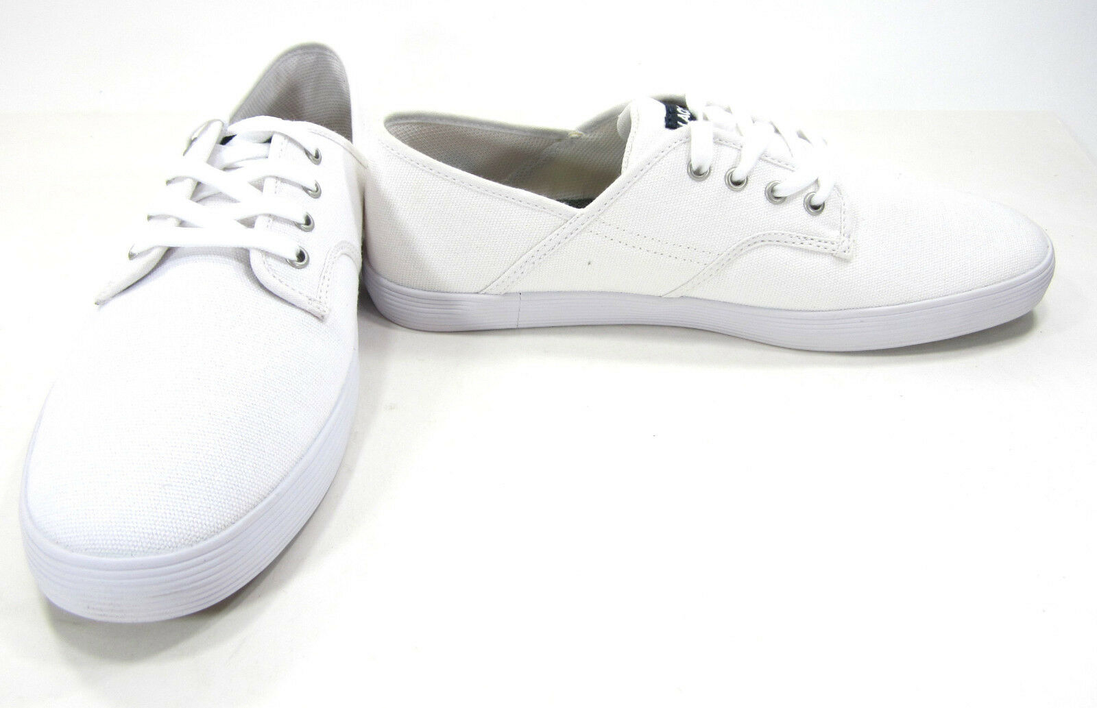 LaCoste Shoes Andover Canvas Lo White Sneakers Size 9