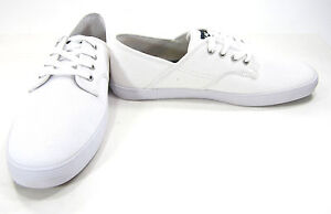 42a1d5525a Image is loading LaCoste-Shoes-Andover-Canvas-Lo-White-Sneakers-Size-