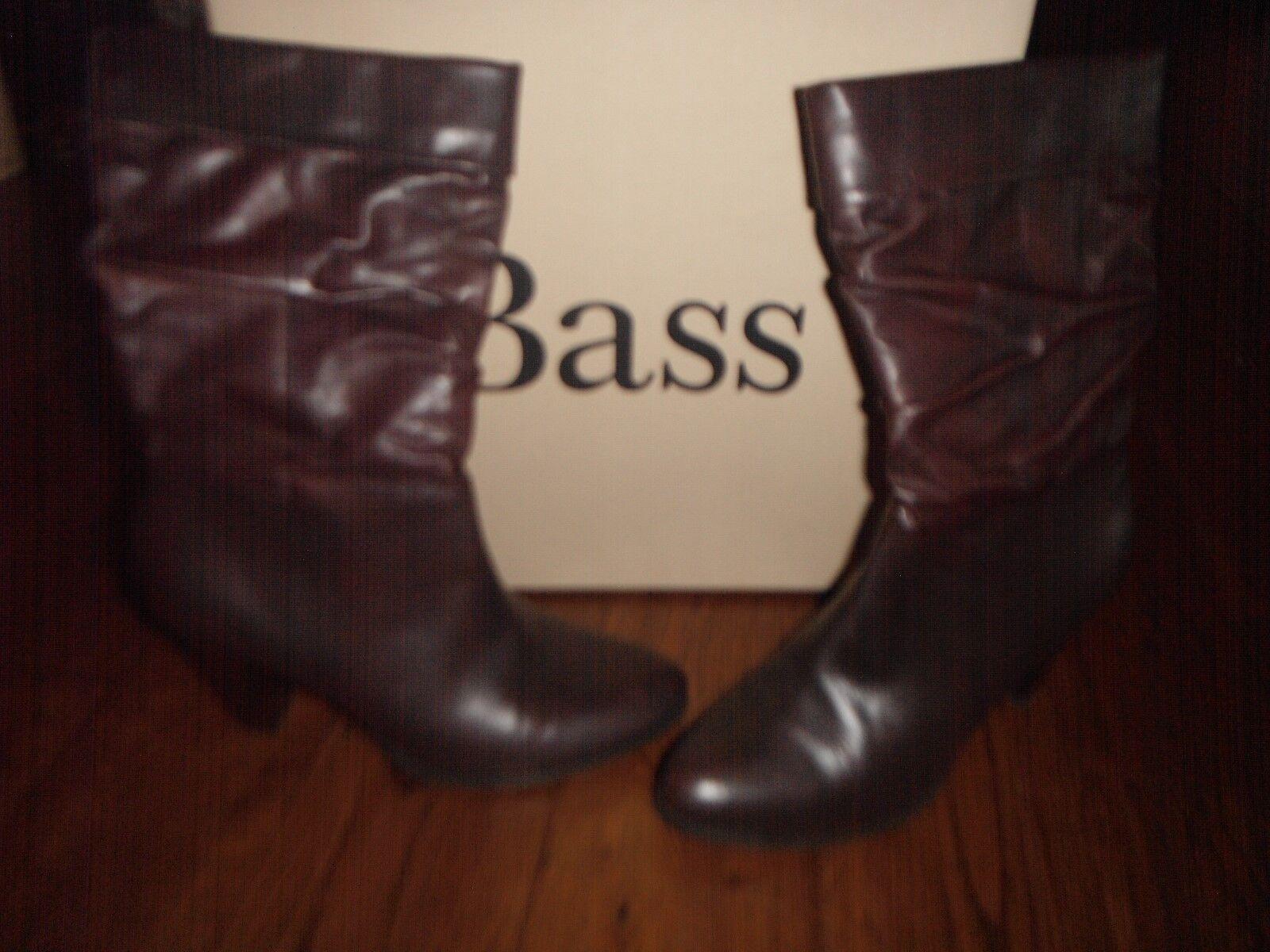 Womens BASS Boots Sz 8 1/2 M Chocolate