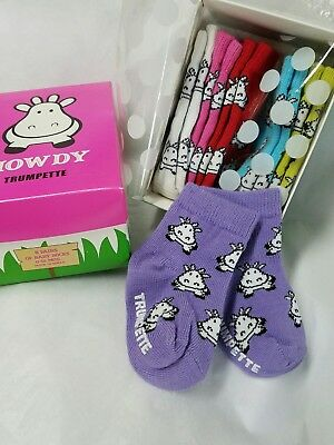 Trumpette HIPPO HOWDY BABY SOCKS 6 pairs 0-12 mos GIFT BOX Non-Skid SHOWER GIFT