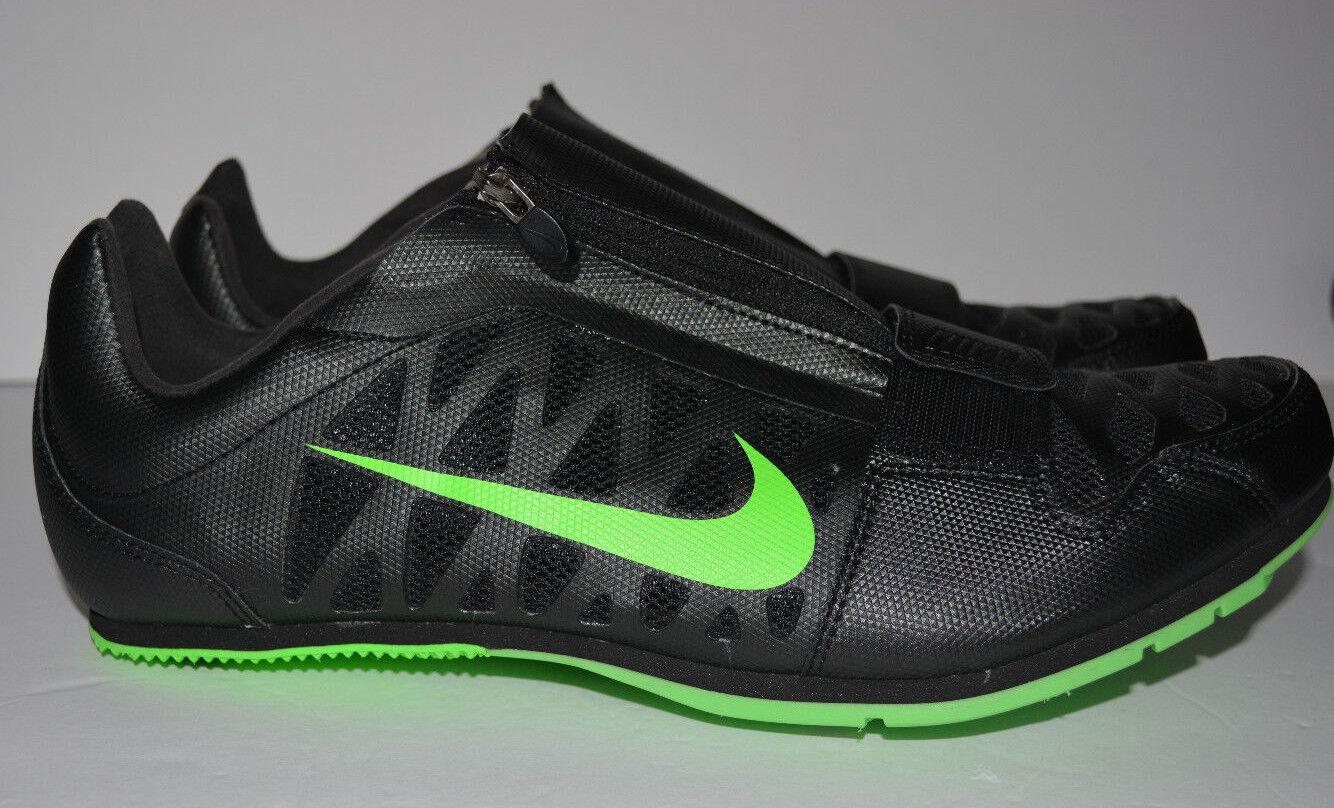 Nike zoom lj 4 colpire gli uomini di salto in lungo, punte di nero - verde [dimensione] 415339 035