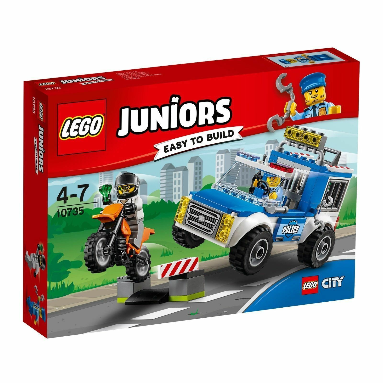 Lego® Juniors Juniors Juniors 10735 Polizei auf Verbrecherjagd Neuware   New   Sealed bef71d