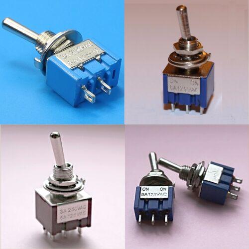 3PDT Interruptor DPDT SPDT SPST Mini Interruptor de palanca 9 Pin 6 Pin 3 Pin en Off On, en sobre, en Off