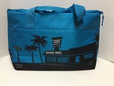 Trader Joes Blue Insulated Tote / Reusable Grocery Bag Extra Large